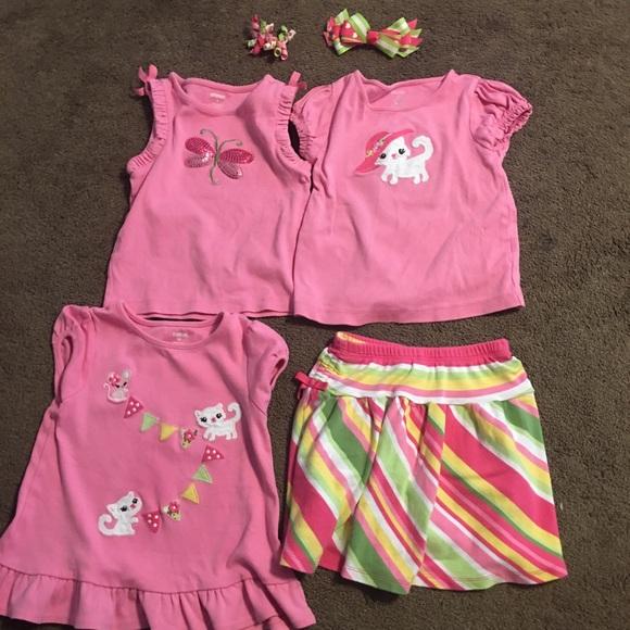 c99ecf9a29 Gymboree Matching Sets   Lot Of Size 3t Pink Kitty   Poshmark
